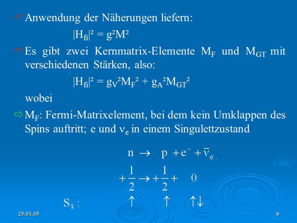 Anwendung der Näherungen liefern: |Hfi|² = g²M²