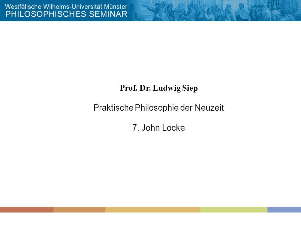 Praktische Philosophie der Neuzeit