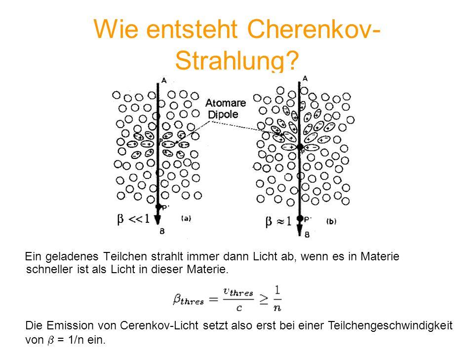 Wie entsteht Cherenkov-Strahlung