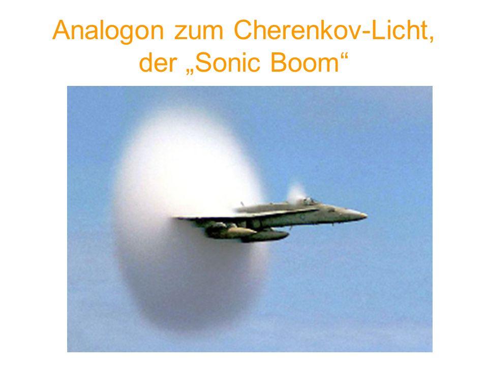 """Analogon zum Cherenkov-Licht, der """"Sonic Boom"""