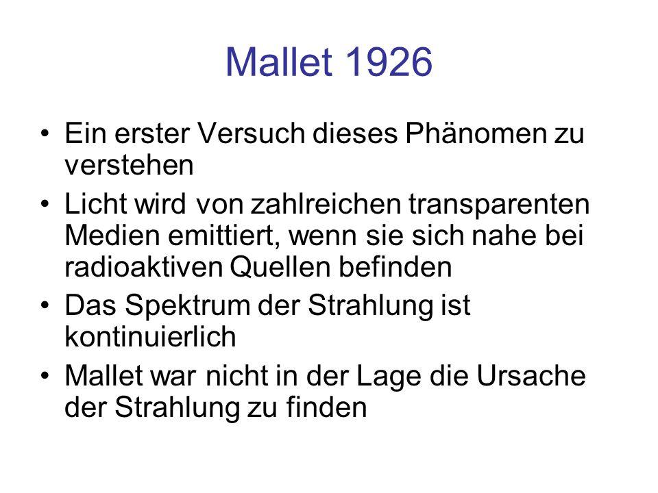 Mallet 1926 Ein erster Versuch dieses Phänomen zu verstehen
