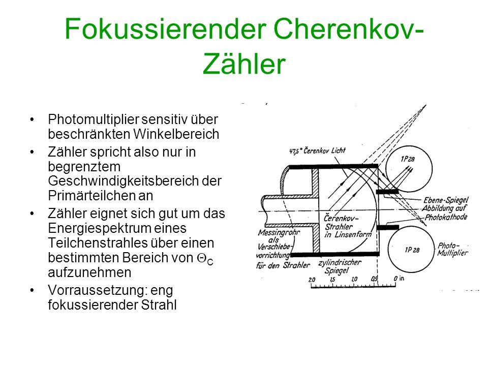 Fokussierender Cherenkov-Zähler