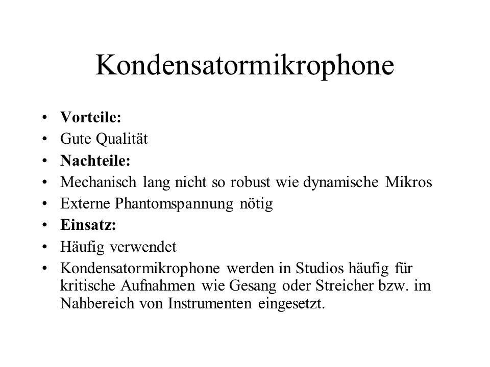 Kondensatormikrophone