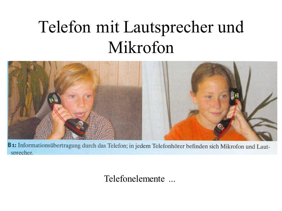 Telefon mit Lautsprecher und Mikrofon
