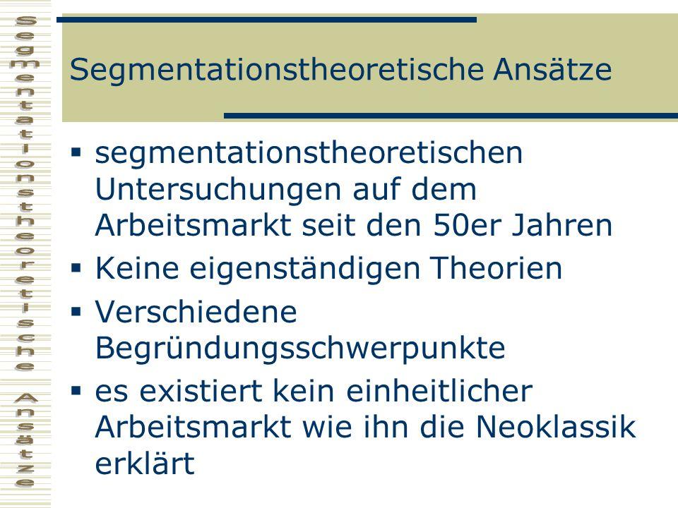 Segmentationstheoretische Ansätze