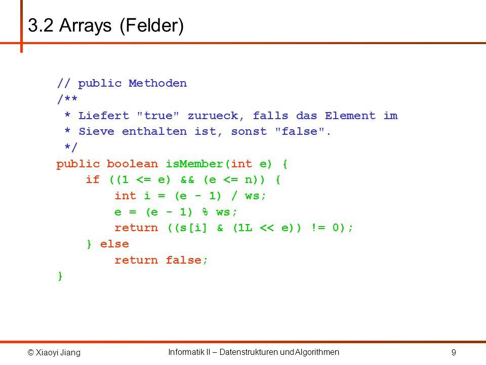 3.2 Arrays (Felder) // public Methoden