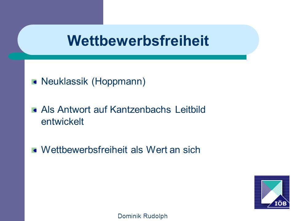 Wettbewerbsfreiheit Neuklassik (Hoppmann)