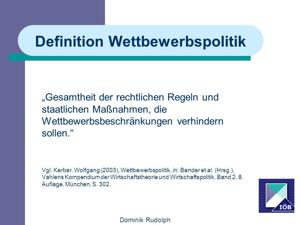 Definition Wettbewerbspolitik