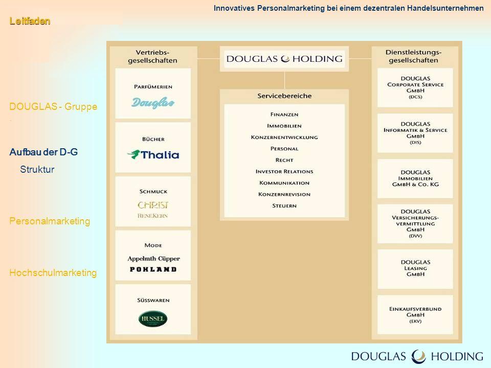 Leitfaden DOUGLAS - Gruppe . Aufbau der D-G.
