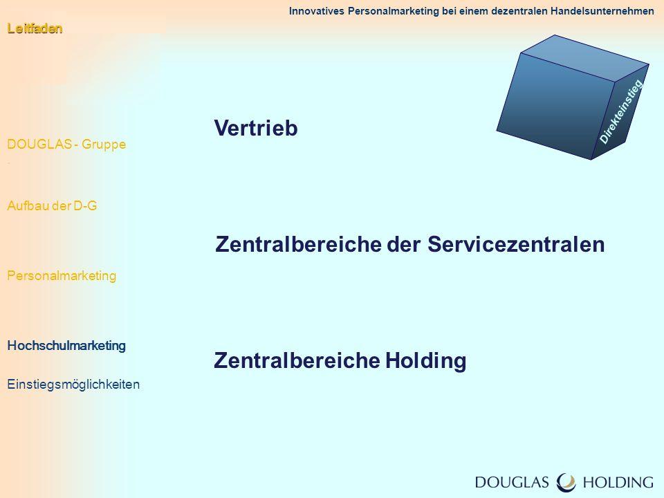 Zentralbereiche der Servicezentralen