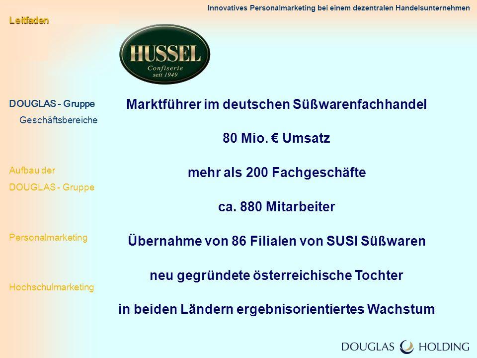 Marktführer im deutschen Süßwarenfachhandel 80 Mio. € Umsatz