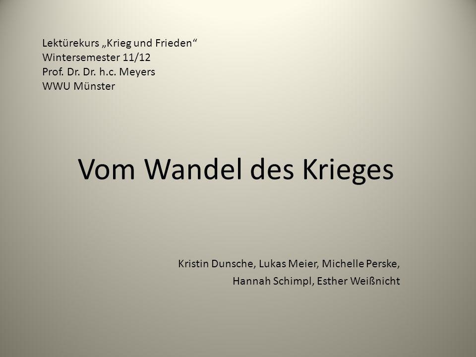 """Vom Wandel des Krieges Lektürekurs """"Krieg und Frieden"""