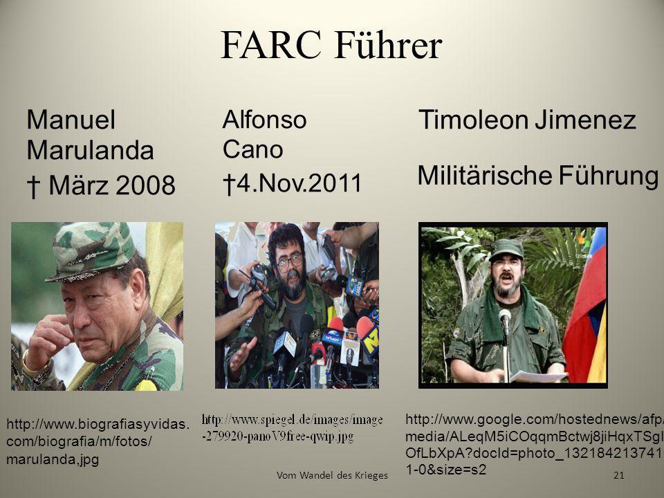 FARC Führer Manuel Marulanda † März 2008 Timoleon Jimenez