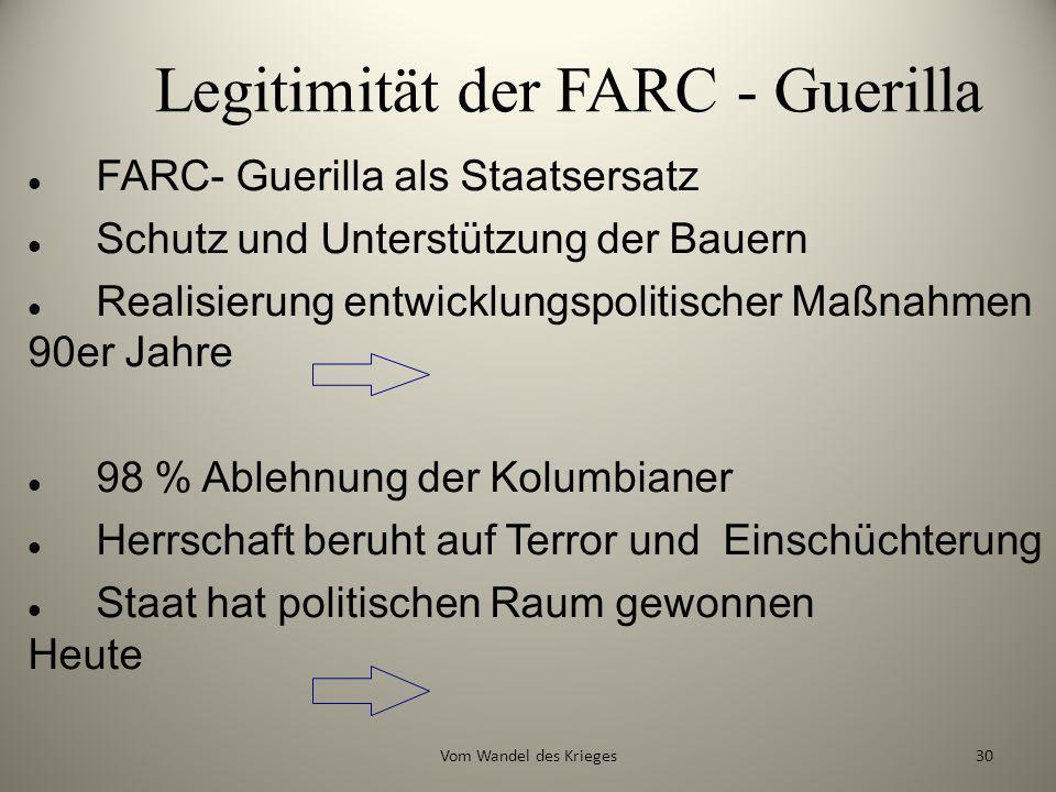 Legitimität der FARC - Guerilla