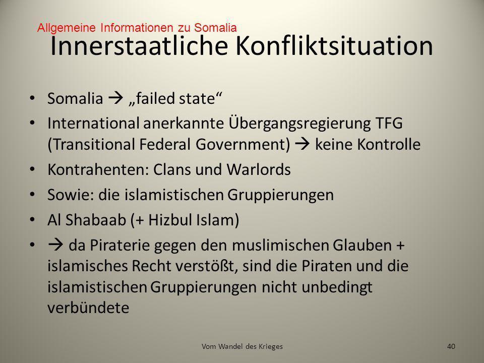 Innerstaatliche Konfliktsituation