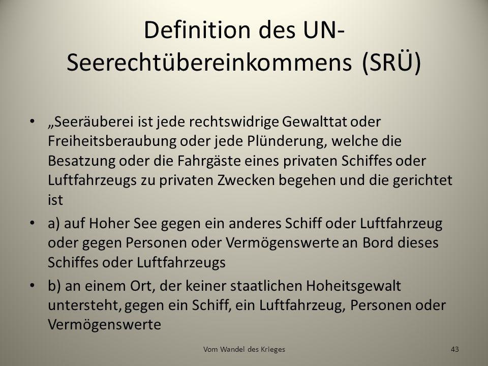 Definition des UN-Seerechtübereinkommens (SRÜ)
