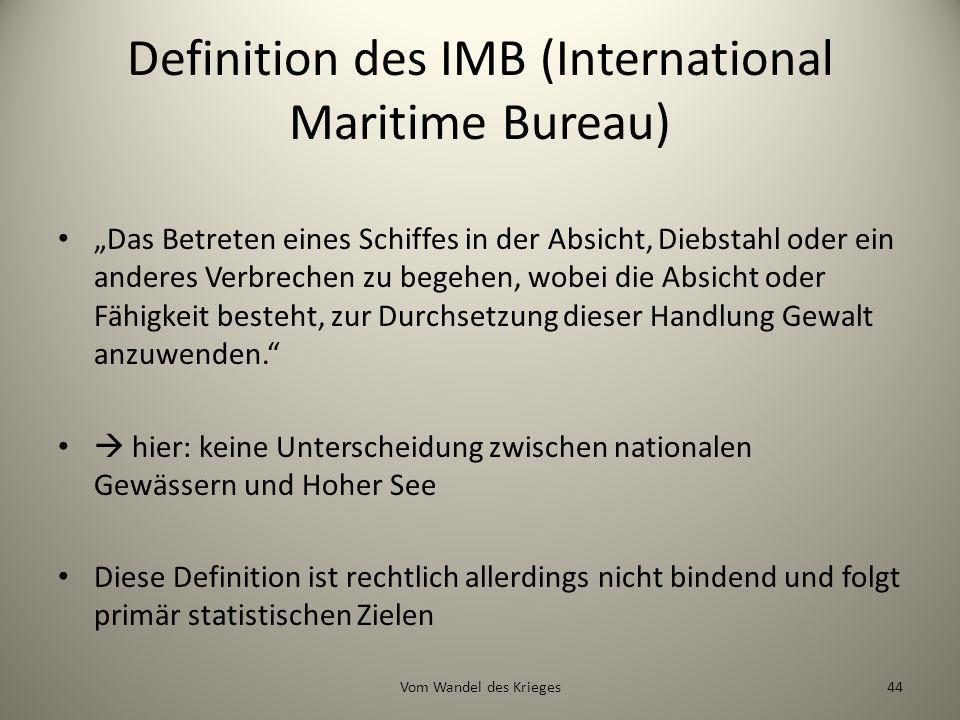 Definition des IMB (International Maritime Bureau)