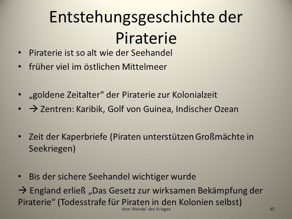 Entstehungsgeschichte der Piraterie
