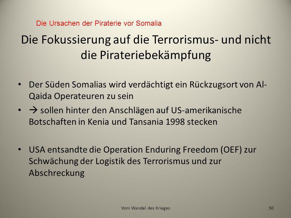 Die Ursachen der Piraterie vor Somalia