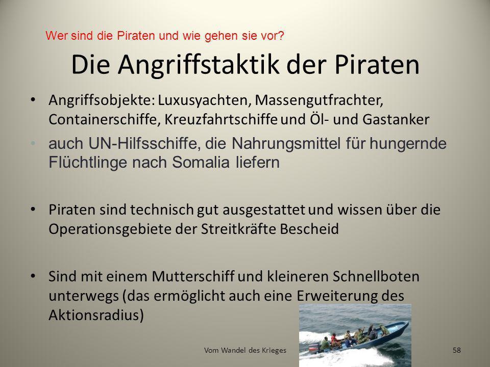 Die Angriffstaktik der Piraten