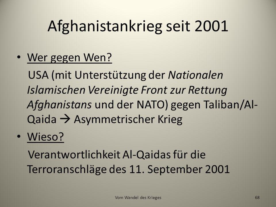 Afghanistankrieg seit 2001
