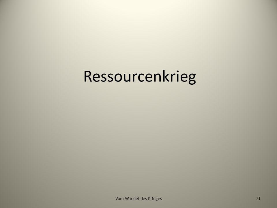 Ressourcenkrieg Vom Wandel des Krieges