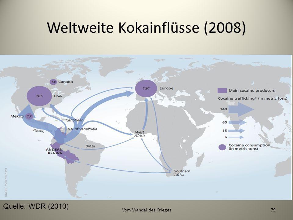 Weltweite Kokainflüsse (2008)