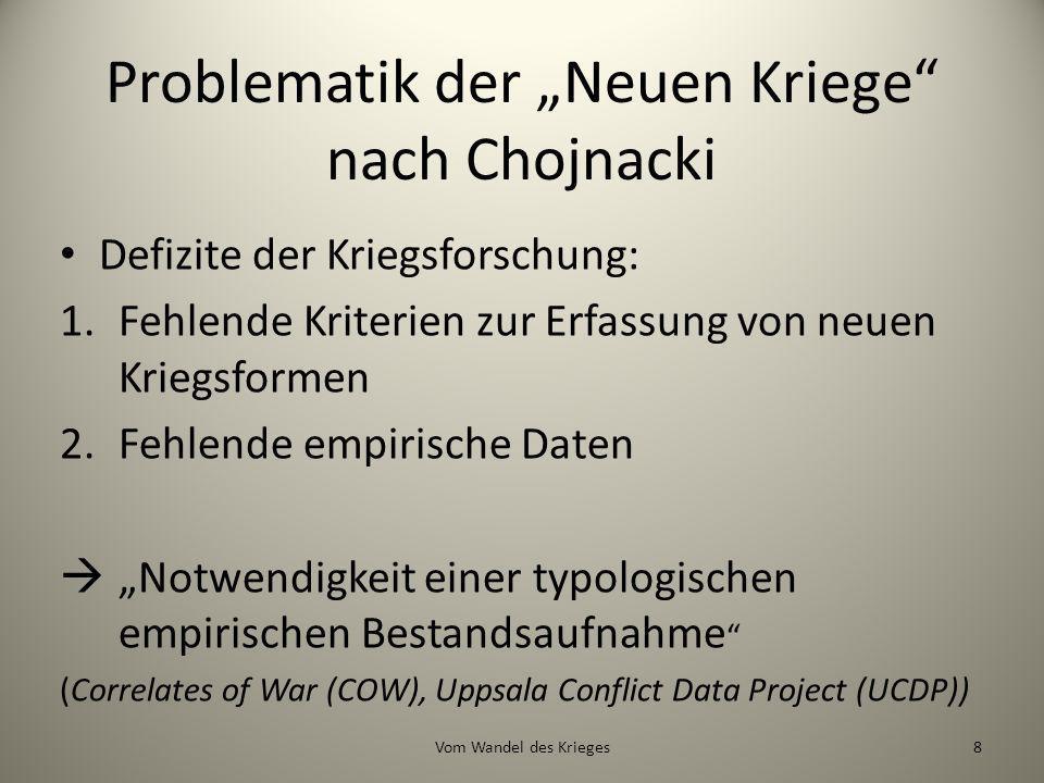 """Problematik der """"Neuen Kriege nach Chojnacki"""
