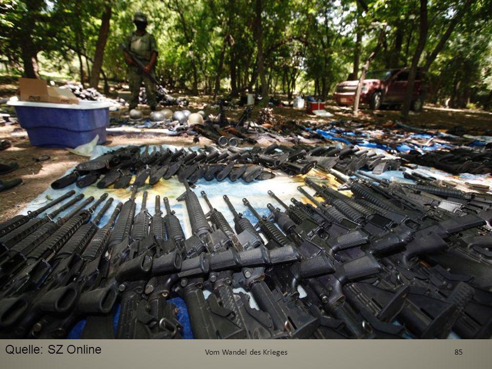 35 mal so viele Waffen wie Polizisten