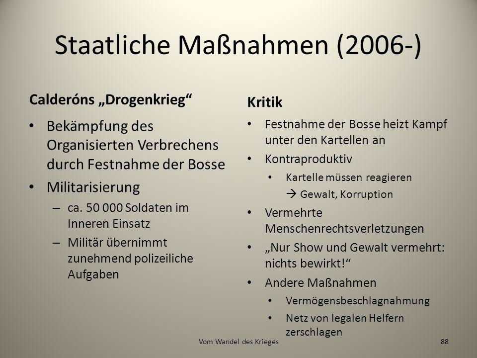Staatliche Maßnahmen (2006-)