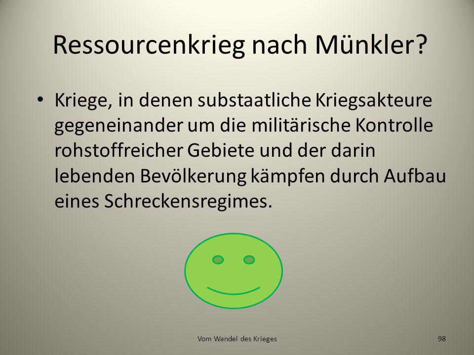 Ressourcenkrieg nach Münkler