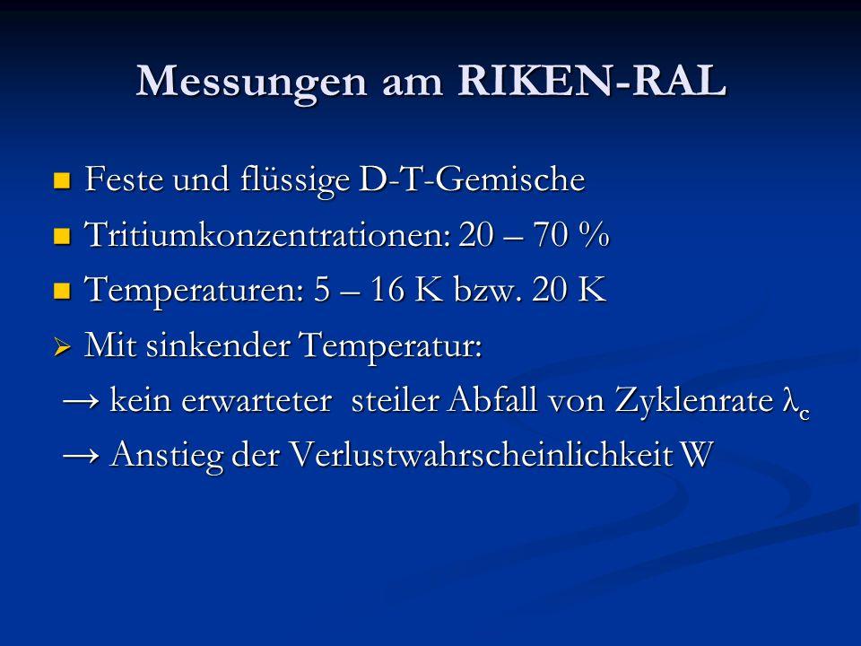 Messungen am RIKEN-RAL