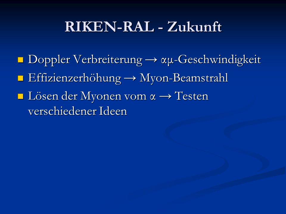 RIKEN-RAL - Zukunft Doppler Verbreiterung → αμ-Geschwindigkeit