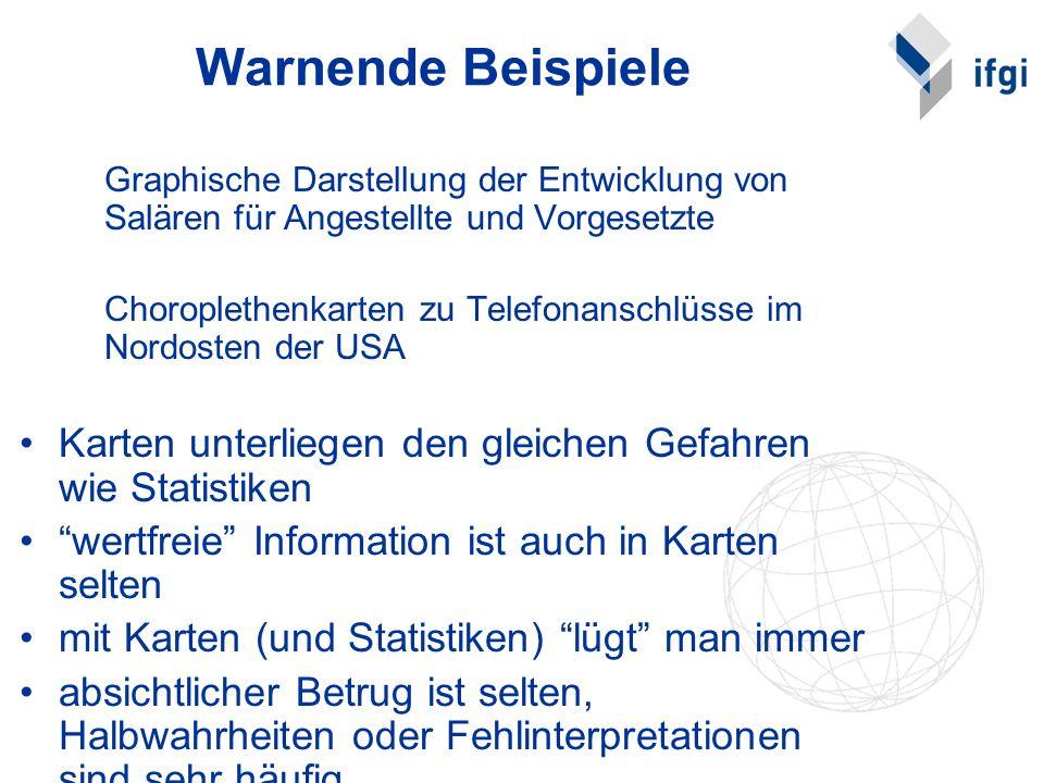 Warnende Beispiele Graphische Darstellung der Entwicklung von Salären für Angestellte und Vorgesetzte.