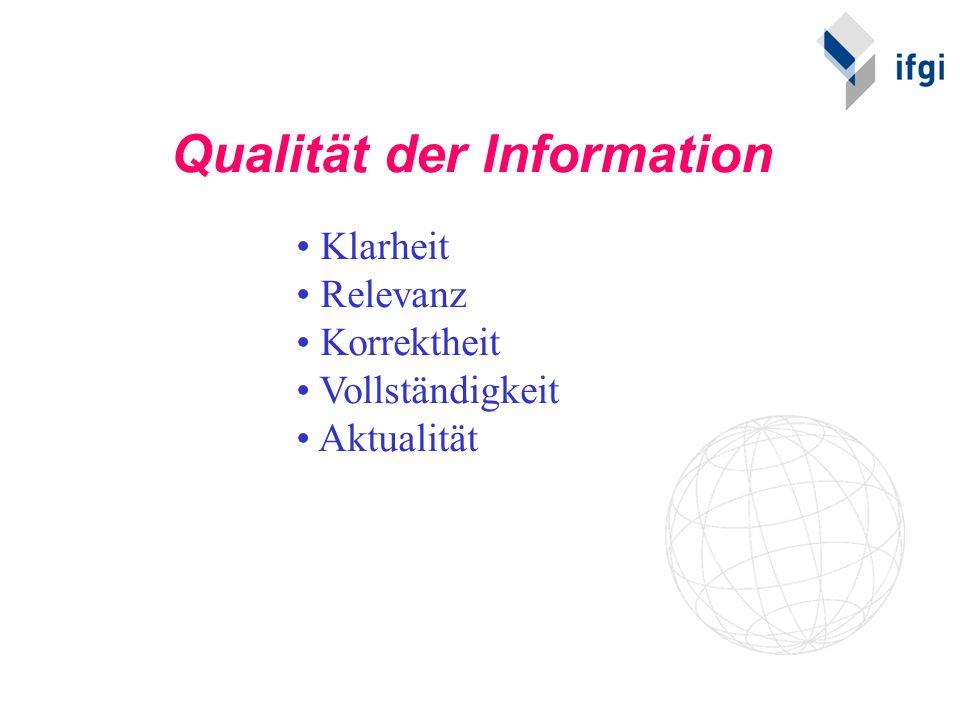 Qualität der Information