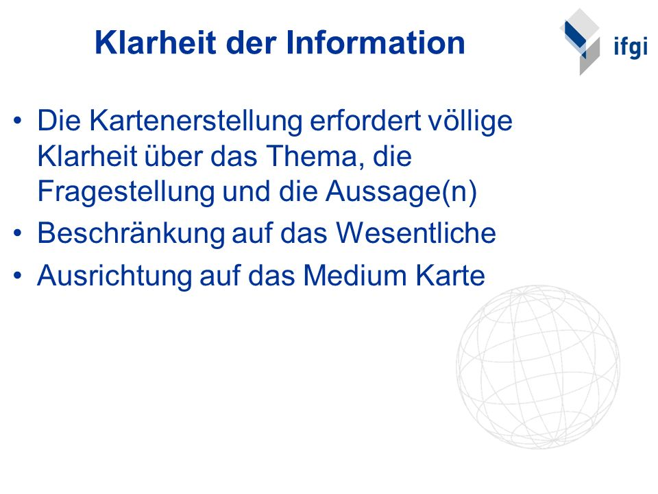 Klarheit der Information