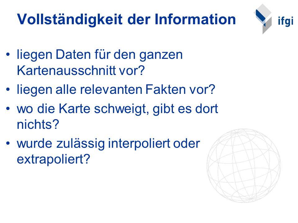 Vollständigkeit der Information