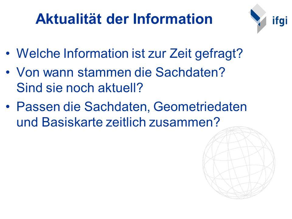 Aktualität der Information