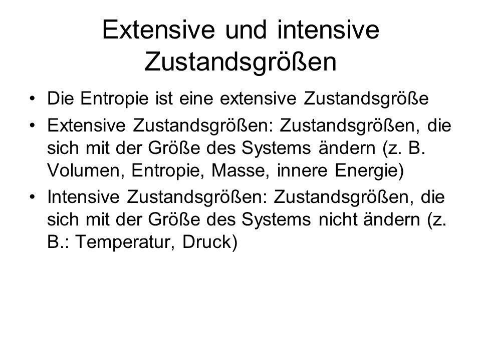 Extensive und intensive Zustandsgrößen