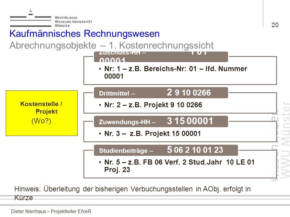Kostenstelle / Projekt