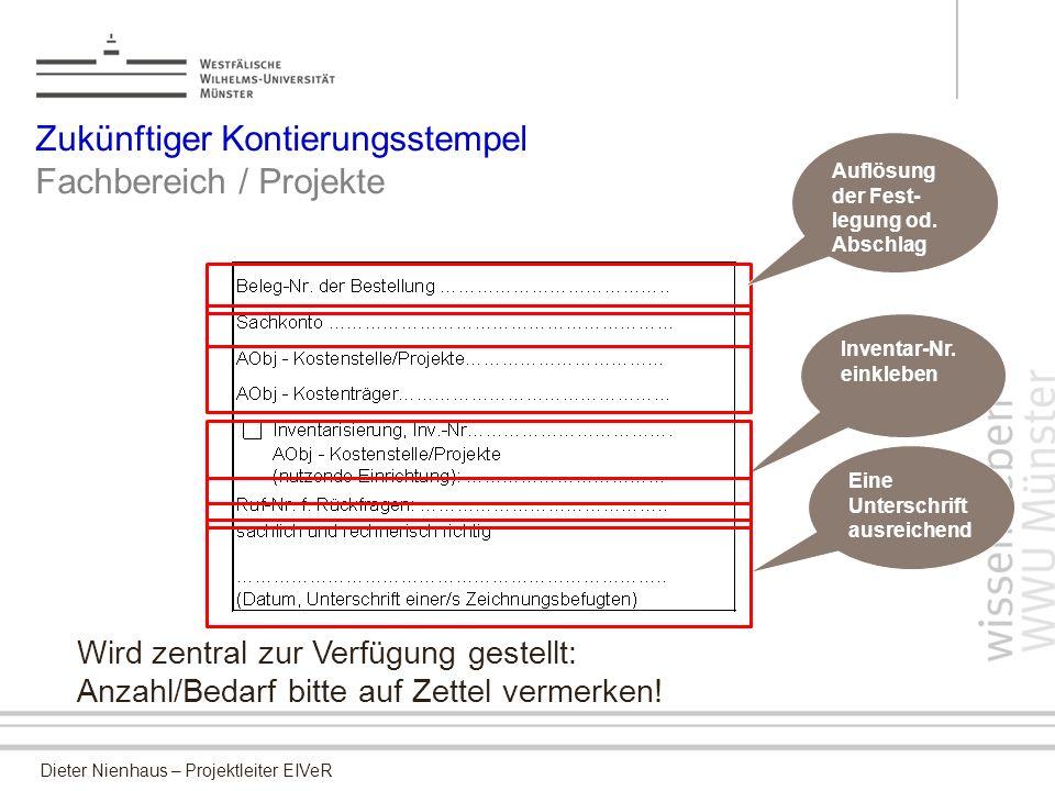 Zukünftiger Kontierungsstempel Fachbereich / Projekte
