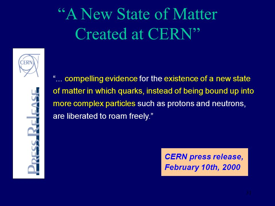 A New State of Matter Created at CERN