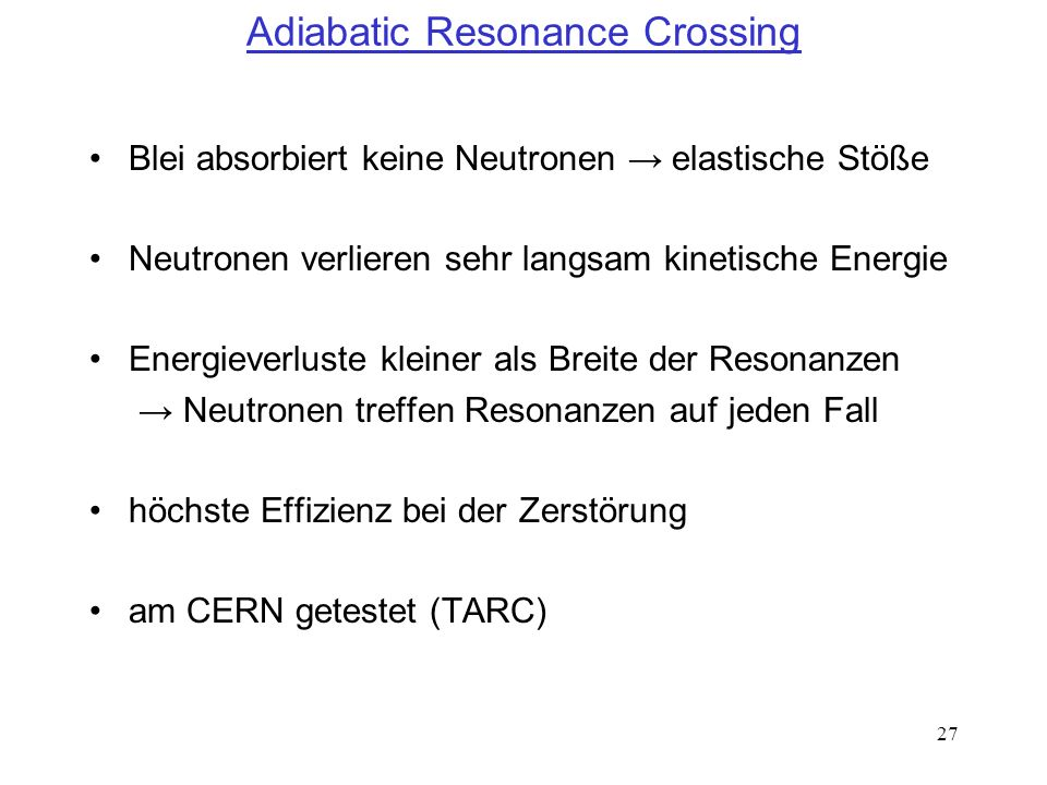 Adiabatic Resonance Crossing