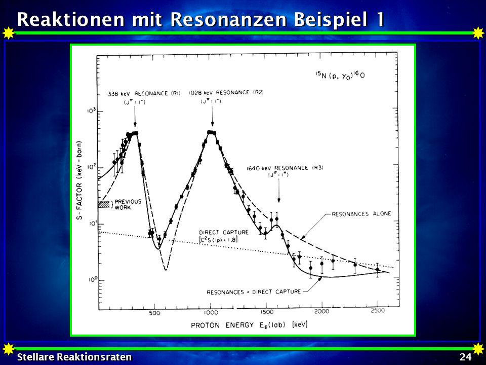 Reaktionen mit Resonanzen Beispiel 1