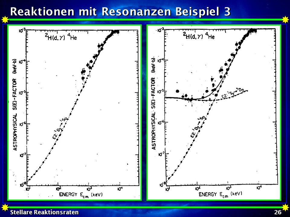 Reaktionen mit Resonanzen Beispiel 3