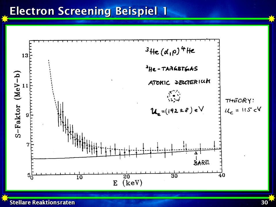 Electron Screening Beispiel 1