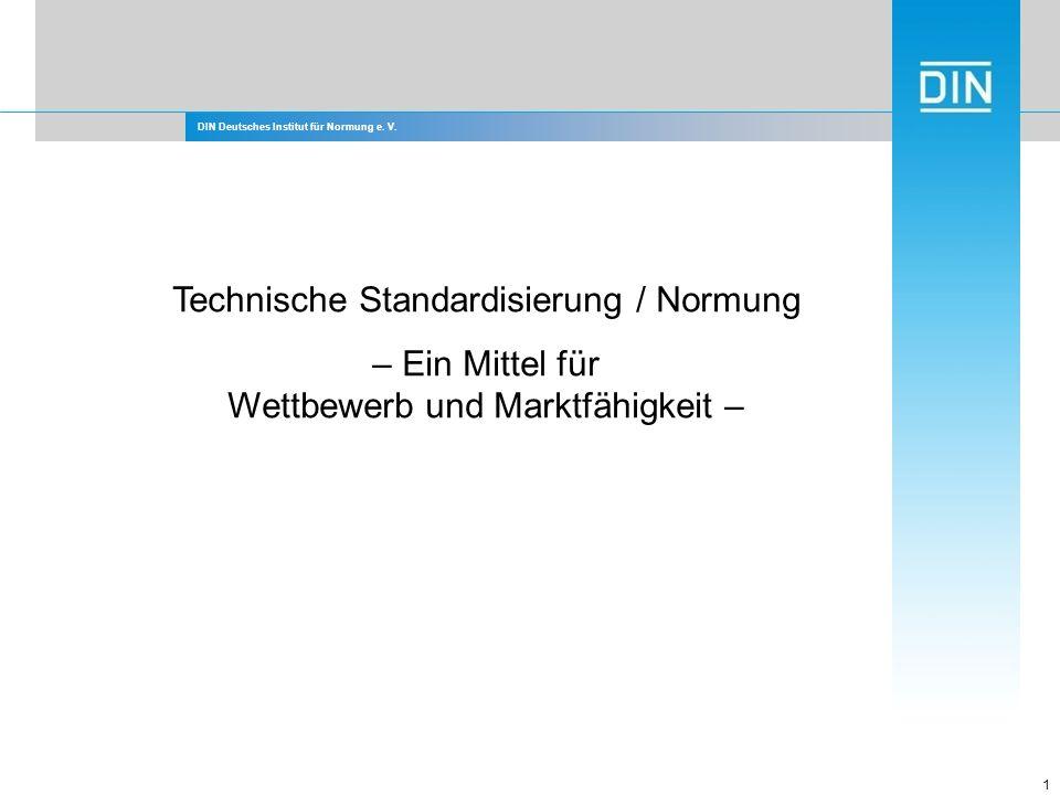 Technische Standardisierung / Normung