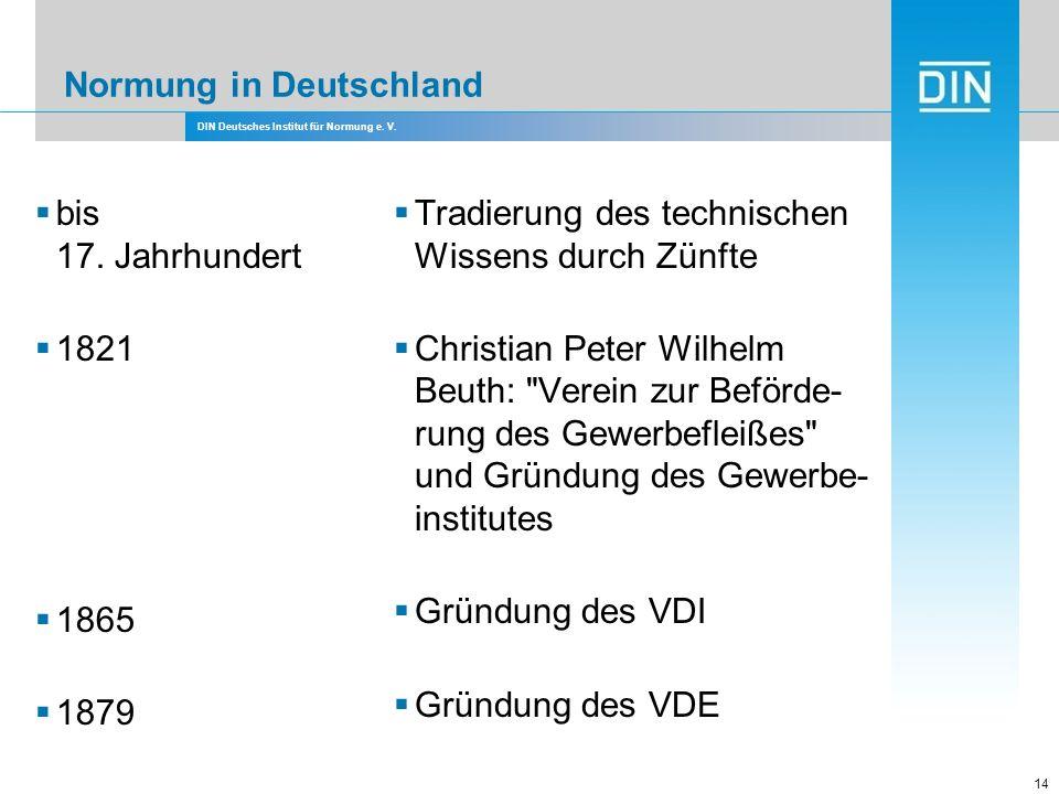 Normung in Deutschland