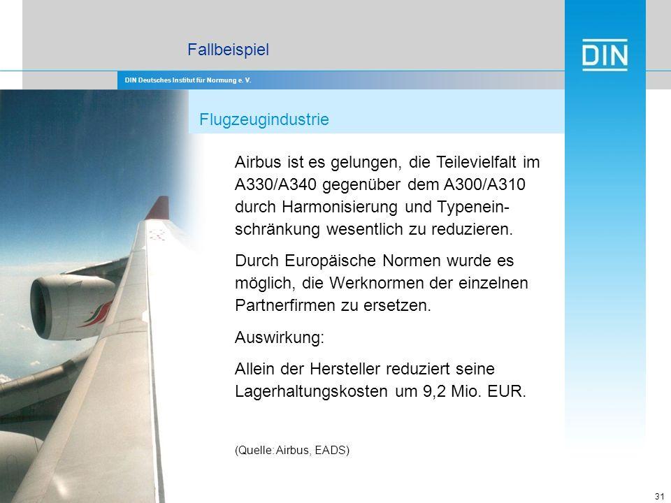 Fallbeispiel Flugzeugindustrie