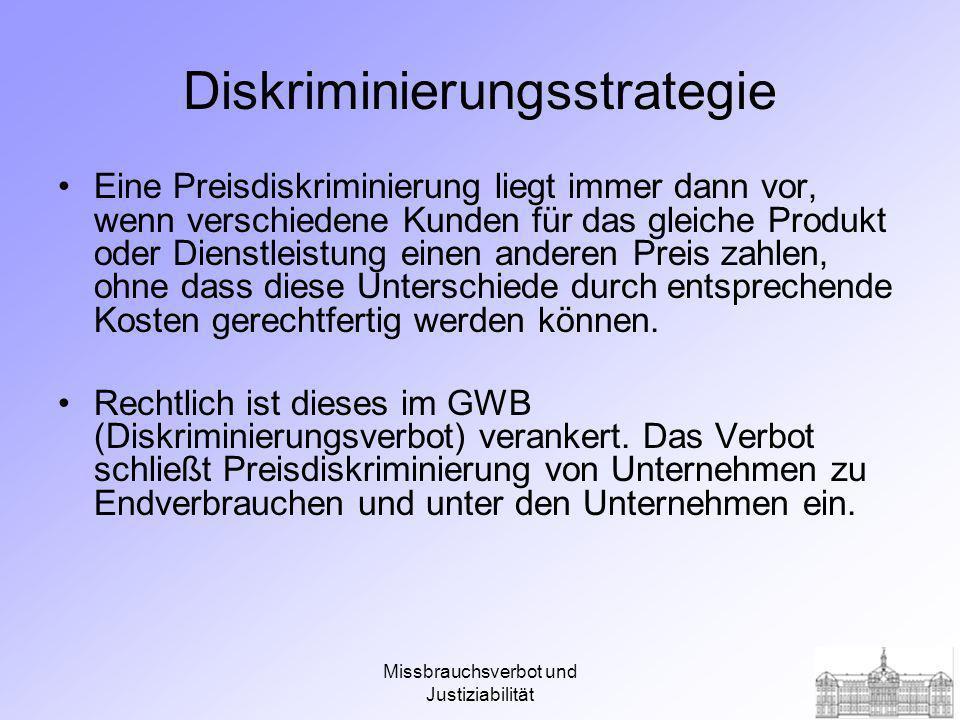Diskriminierungsstrategie